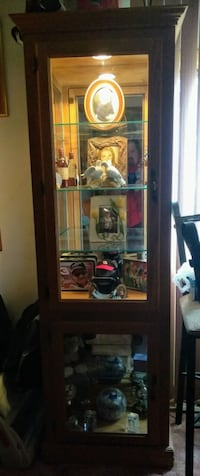 Curio cabinet, 5' tall, lighted Pennsauken Township