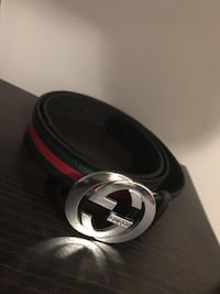 Black gucci belt with silver logo Montréal, H8Z 1N9