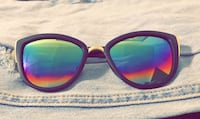 Black framed sunglasses with duo chrome lens Mission, 57555