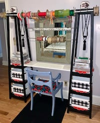 A-Frame crafting Station Work Desk with Storage boxes, trays, & Chair Charlotte, 28214