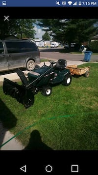 black and gray ride on mower Milford Charter Township, 48381