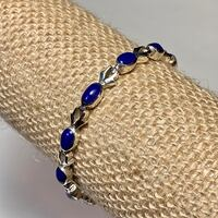 Authentic Sterling Silver Lapis Lazuli Bracelet Ashburn