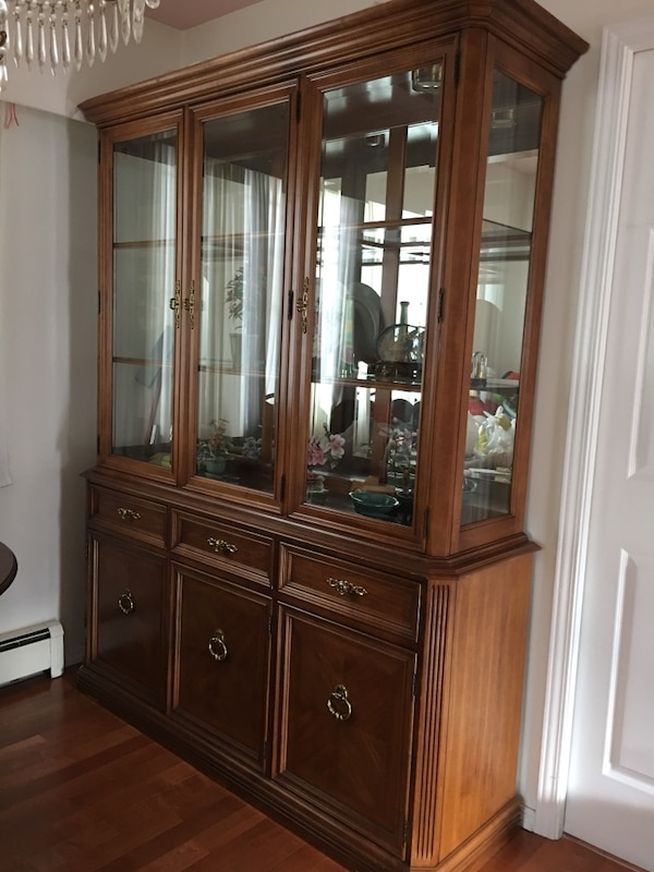 Solid Wood Glass Cabinet