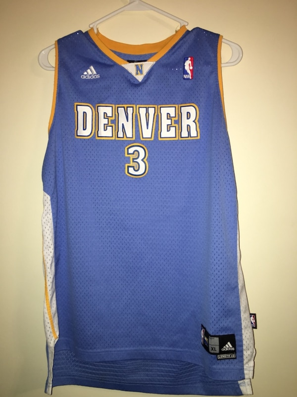 new products 3a778 5a863 Used denver adidas jersey shirt allen iverson for sale in ...