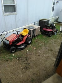 Two riding lawnmower