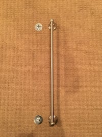 Brand new brushed nickel towel bar with mounting brackets.  Fairfax, 22030