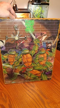 Tmnt home made clock 1989 movie poster