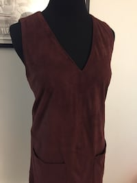 suede maroon dress  Toronto, M5T 1B7