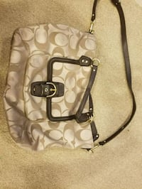monogrammed brown Coach leather 2-way bag Simi Valley, 93065