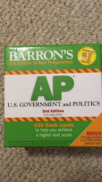 AP U.S.Government and Politics flash cards -never used Suwanee, 30024