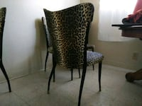 black and brown leopard print chair Ventura, 93001