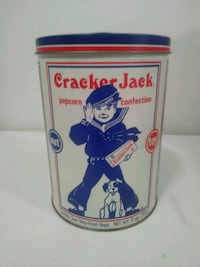 "8"" Cracker Jack Tin Can 1990. Trades accepted"