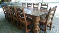 rectangular brown wooden table with chairs dining set Pharr, 78577