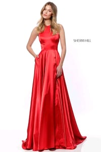 Red homecoming/ prom dress