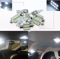 White led car interior bulb upgrade kit