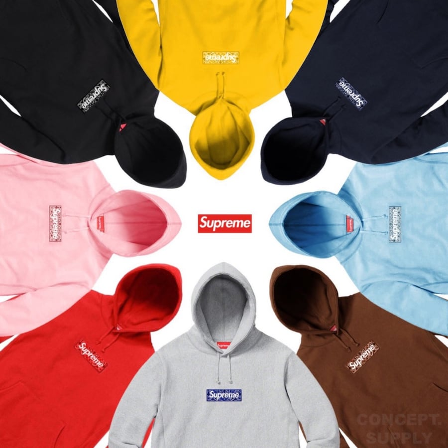 Supreme Bandana Box Logo Sweater Black