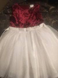 girl's white and red dress Edmonton, T5Y 0M6