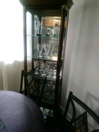 black wooden framed glass display cabinet Broomall, 19008