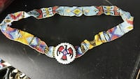 Native handmade red, blue, and yellow belt Joplin, 64804