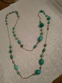 Silver and turquoise neckless. Guelph, N1E 4B9