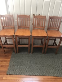 4 bar height wood bar stools Ashburn, 20147