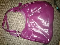 women's pink leather sling bag Justice, 60458