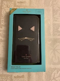 BRAND NEW Kate Spade cat folio iPhone 7/8 case in saffiano leather  Toronto, M6G 3E5