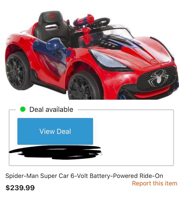 Used Spider Man Kids Toy Electric Car For In Little Elm