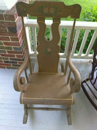 brown wooden horseshoe rocking chair Mount Airy, 21771