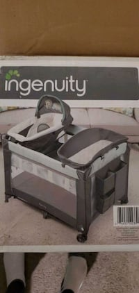 Play open with change table and bassinet Whitby, L1N 3C7