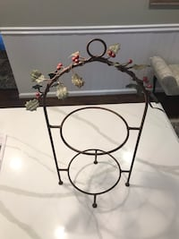 2 plate - tiered Christmas serving rack 14 mi