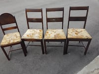 Antique Table and 4 chairs Hamilton