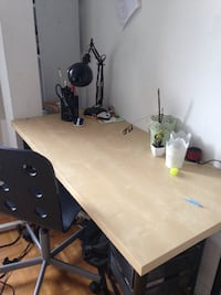 Desk and chair  null