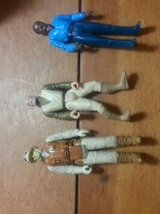 three Star wars collectible action figures