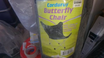 Corduroy Blue Butterfly Chair
