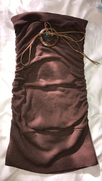 Brown medium tube tope wit pendant and tie Mississauga, L4W