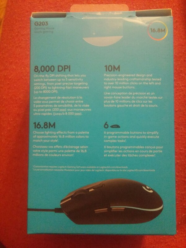 Gaming mouse (Logitech g203)