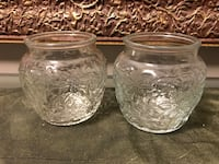 2 Princess house crystal FANTASIA canister jars Rochester