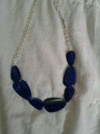 Indigo blue and silver beaded necklace Brampton, L6S 4A2