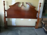 brown wooden bed headboard Victoria, V8N