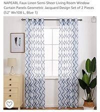 4 blue/white modern curtain panels Baltimore