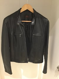 Black leather women's jacket size S . Excellent condition. It is a beautiful jacket . Toronto, M8Z 4S9