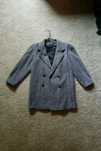 gray button-up coat Spring, 77381
