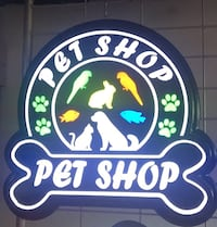 Pet shop led tabelası