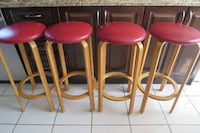 LEATHER AND WOOD COUNTER HEIGHT  STOOLS TORONTO