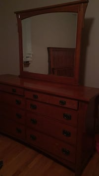brown wooden dresser with mirror Paterson, 07502