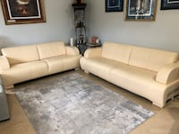 Sofa in cream leather King, L0G