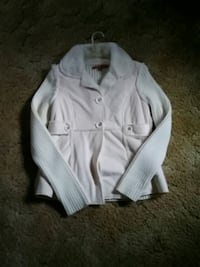 white button-up long-sleeved sweater Russell, 16345