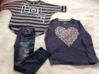 2 shirts + 1 pants all in excellent condition all $10.      Size 7-8 Hamilton, L8V 4K6