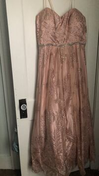 Women's rose gold and shimmer dress with a Cupcake Slip  Springfield, 62703
